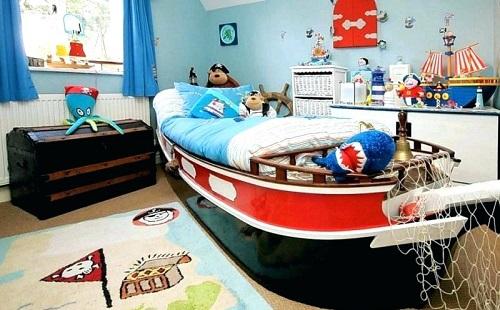 спальня мальчика в виде каюты корабля кровать в виде корабля