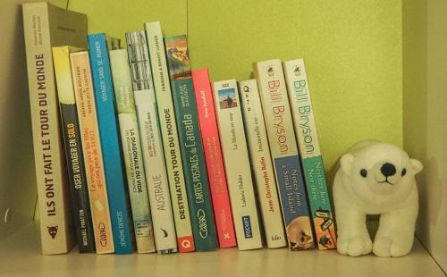 на полке стоят чистые детские книги