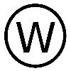 кружок с W в середине