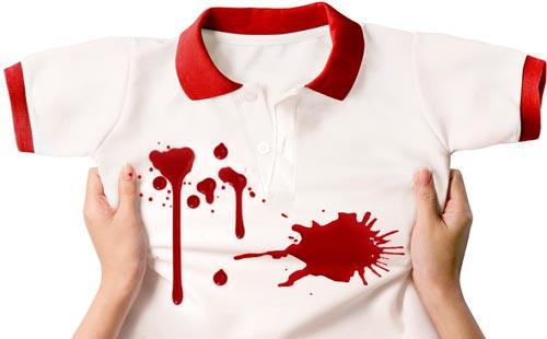 как отстирать красное вино с белой футболки