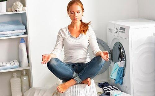 Релакс возле стиральной машины