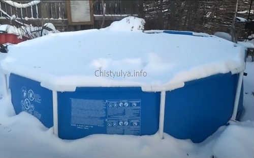 Как хранить каркасный бассейн зимой?